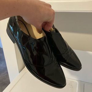 Louise et Cie black patent leather pointed shoes